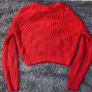 H&M Red Bulky Knitted Sweater
